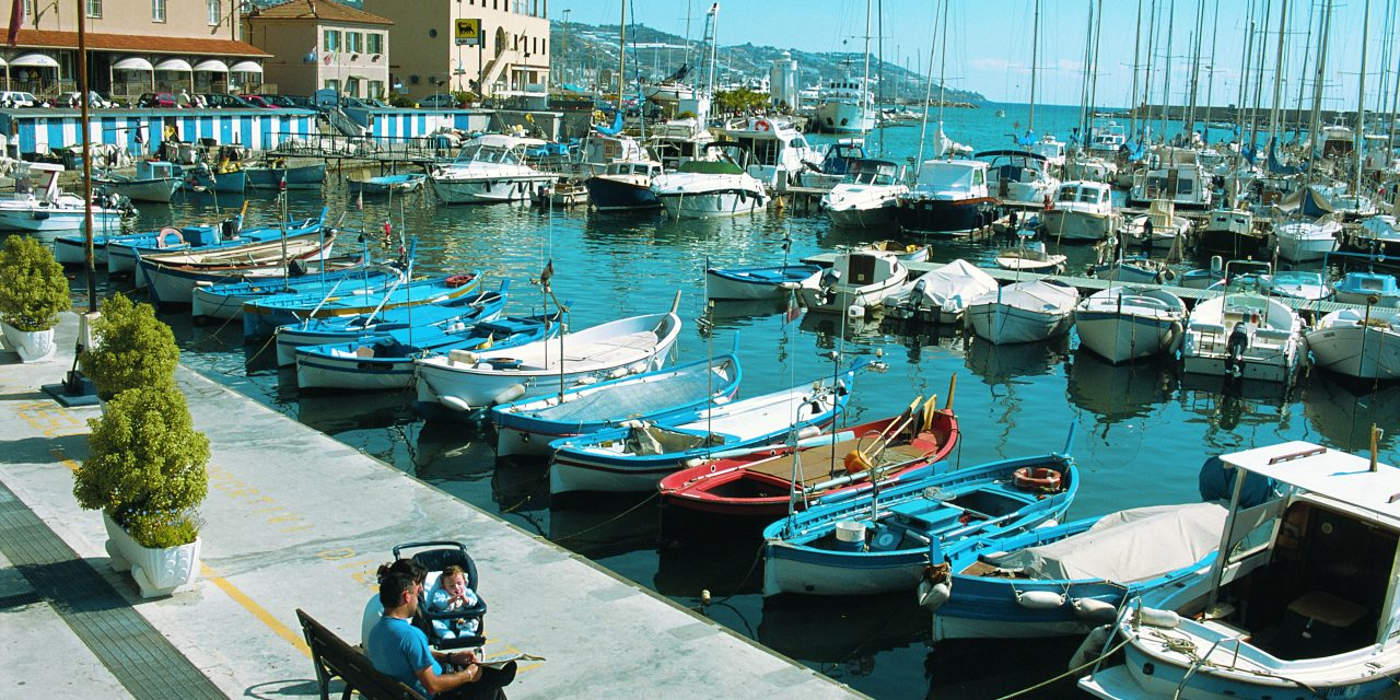 Il porto di Sanremo, il mare: limite e risorsa mentale dei Liguri