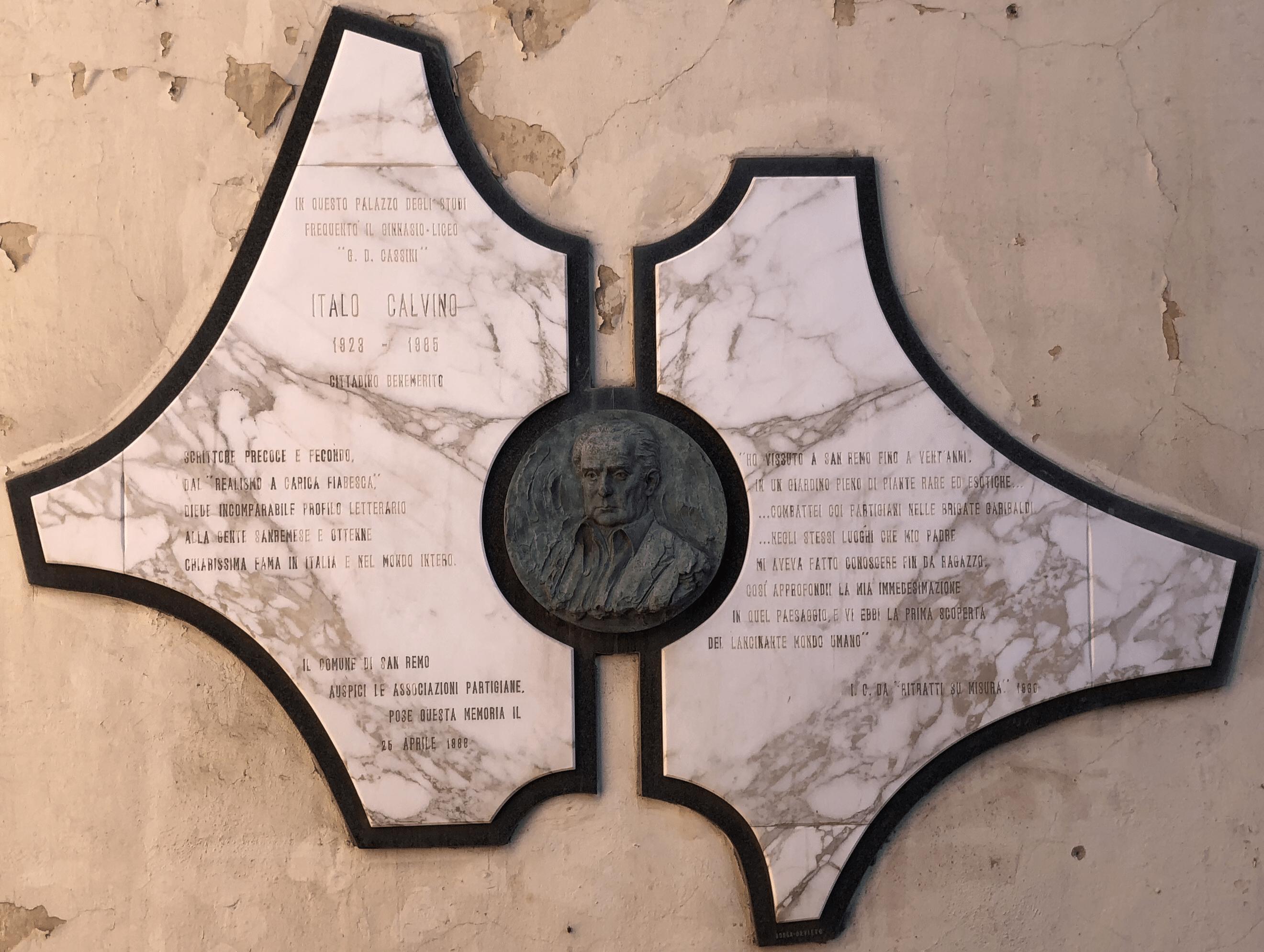 Nella Biblioteca Civica di Sanremo si trova il grande Fondo Mario Calvino-Eva Mameli Calvino, donato alla città dai figlio Italo e Floriano Calvino nel 1979, un anno dopo la morte…