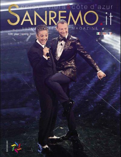 Amadeus e Fiorello sul palco del Festival di Sanremo 2021.